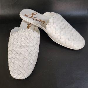 Sam Edelman  Katy White Woven Slipper Loafer